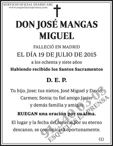 José Mangas Miguel